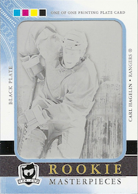 2011-12 The Cup Printing Plates Ultimate Collection Black #90 Carl Hagelin
