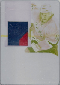 2011-12 Dominion Printing Plates Yellow #193 Carl Hagelin JSY /1