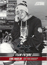 2012-13 Score Team Future #TF7 Carl Hagelin Expo '12 /1