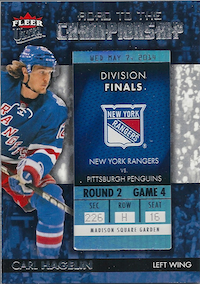 2014-15 Ultra Road to the Championship #RTCNYRCH6 Carl Hagelin/Round 2 (5/7/14)