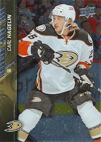 2015-16 Upper Deck #257 Carl Hagelin Silver Foil Board