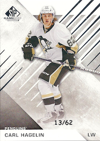 2016-17 SP Game Used #92 Carl Hagelin/62