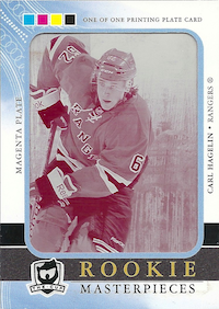 2011-12 The Cup Printing Plates Ultimate Collection Magenta #90 Carl Hagelin