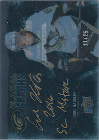 2016-17 Upper Deck Ice Glacial Graphs Black #GGCH Carl Hagelin/2016 SC Mstare /25