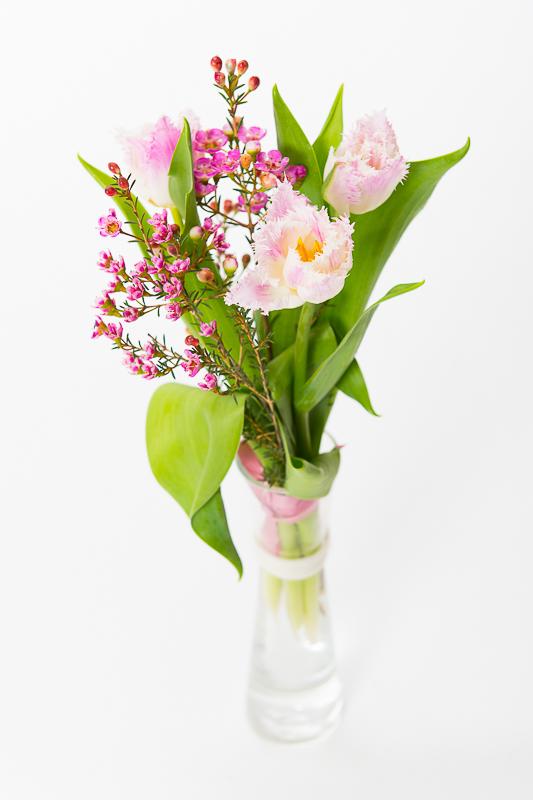 Fick fina blommor av mamma och pappa!