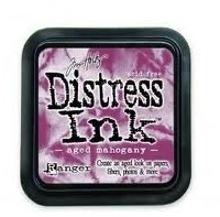 Distress ink aged mahogny