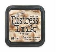 Distress ink Tea dye