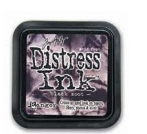 Distress ink black soot