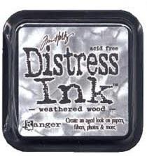 Distress ink weathered wood