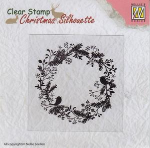Nellie - Snellen - clear stamp - wreath -