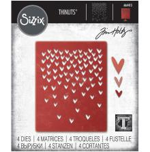 Tim Holtz Sizzix Thinlits Dies - Falling Heart
