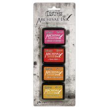 Distress Archival inkpad - minidyna 4-pack, klicka på bilden för alla färger - Distress Arcival inkpad - Kit #1