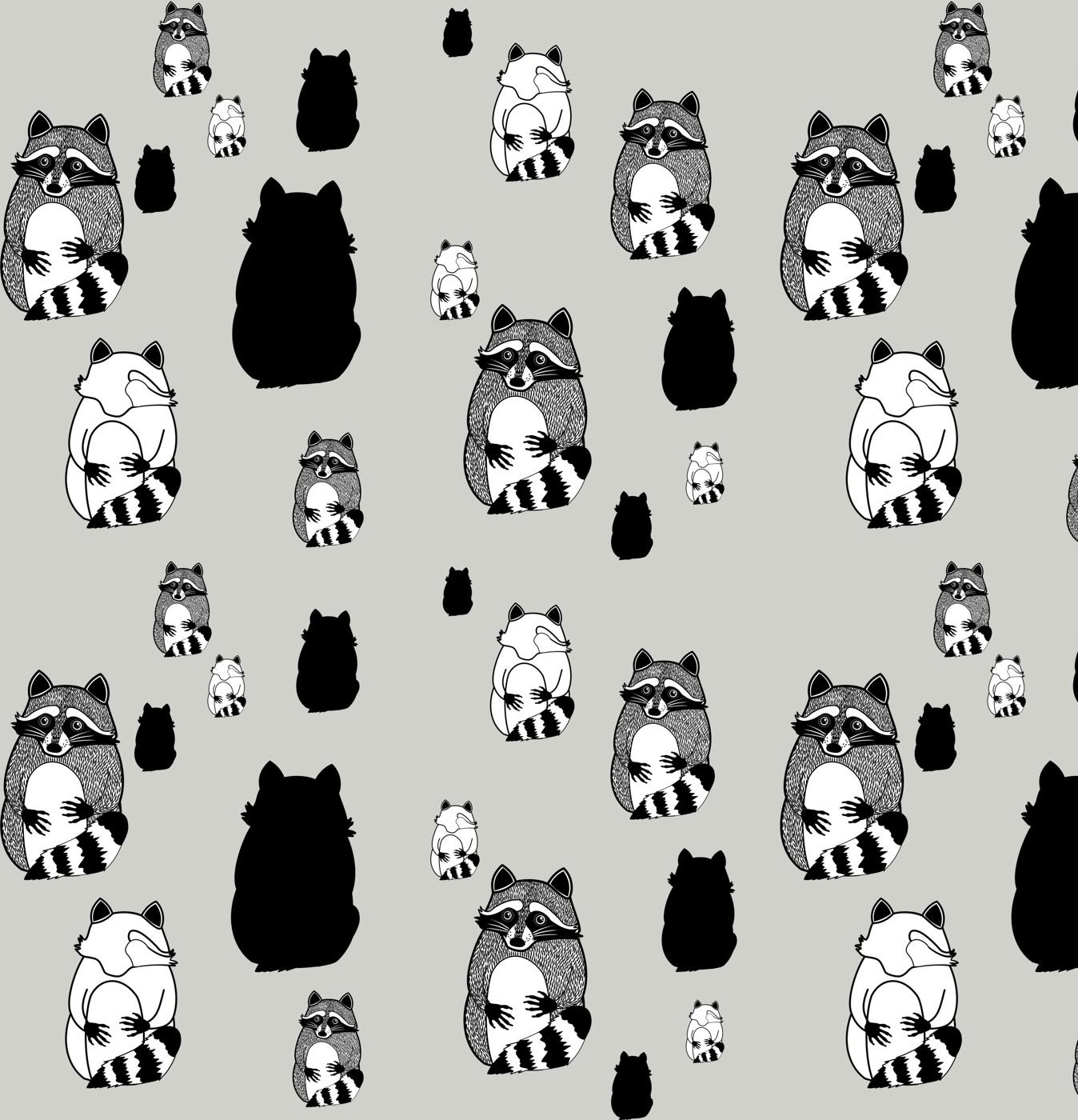Raccoons pattern
