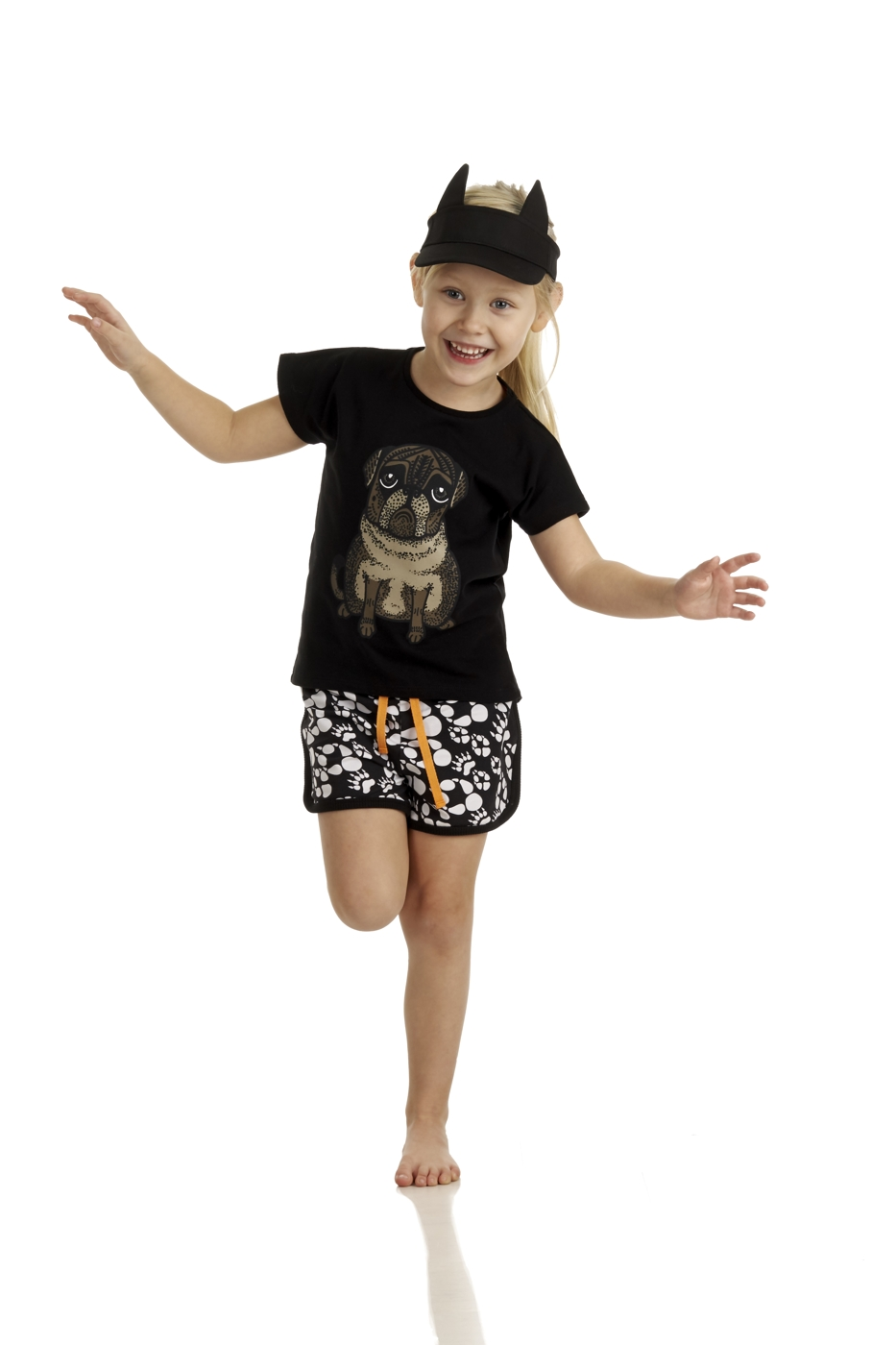 17SSSHP Shorts Paws AOP S