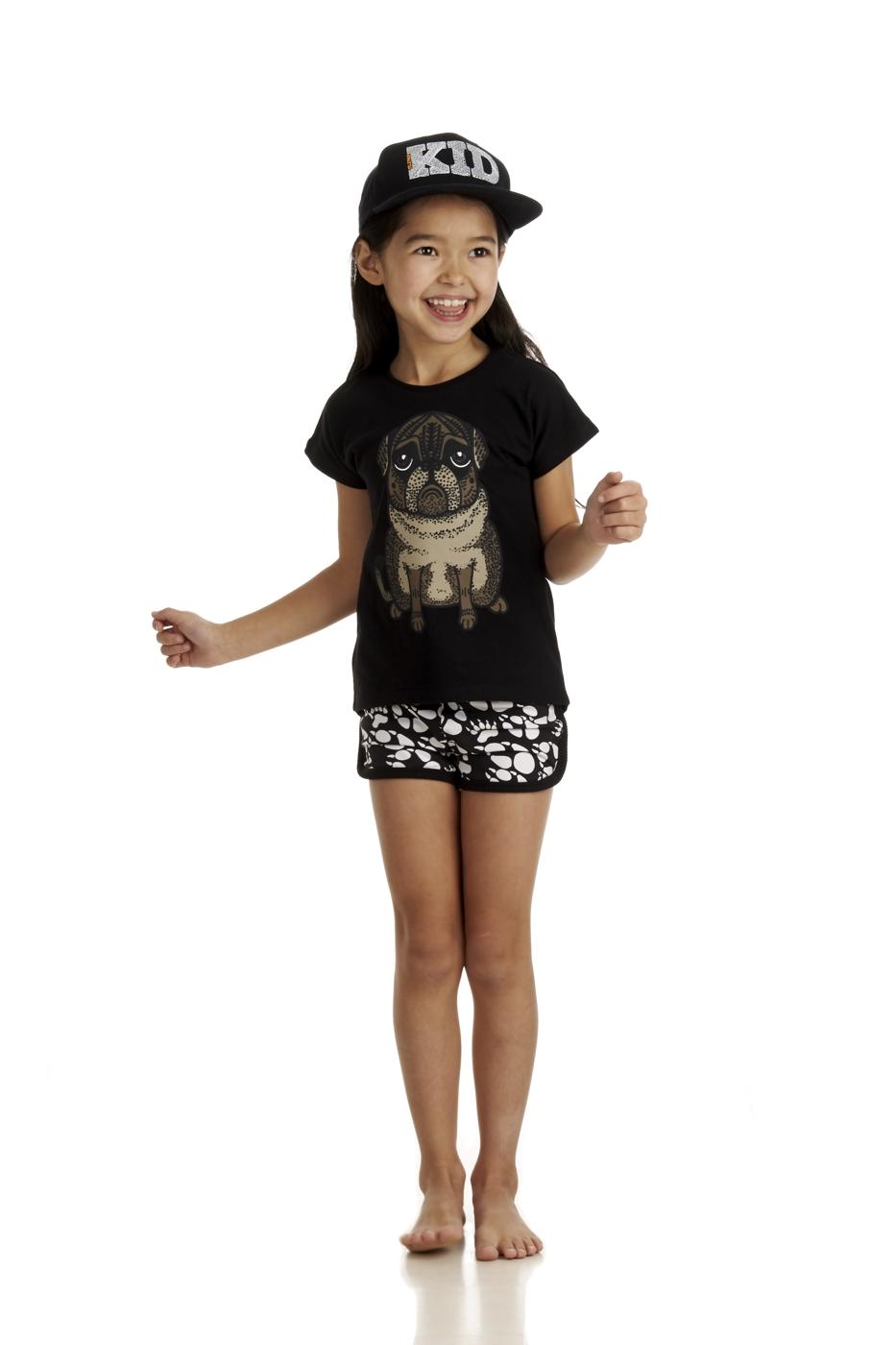 17SSTP T-shirt Pug 17SSSHP Shorts Paws AOP E
