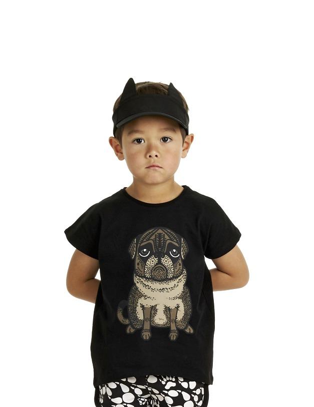 17SSTP T-shirt Pug 17SSSHP Shorts Paws AOP B