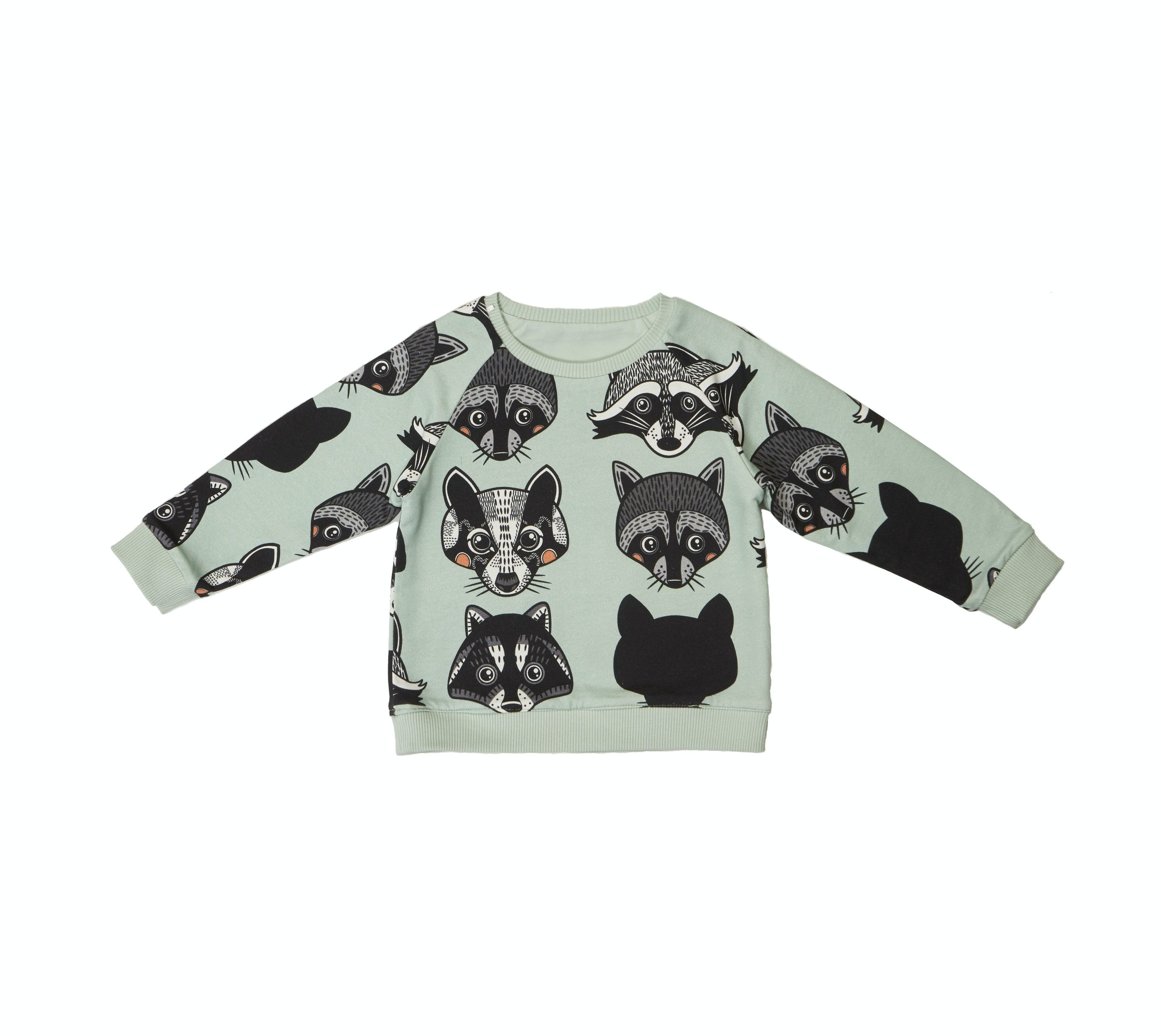 18SSRSR Reversible sweatshirt Raccoon AOP side