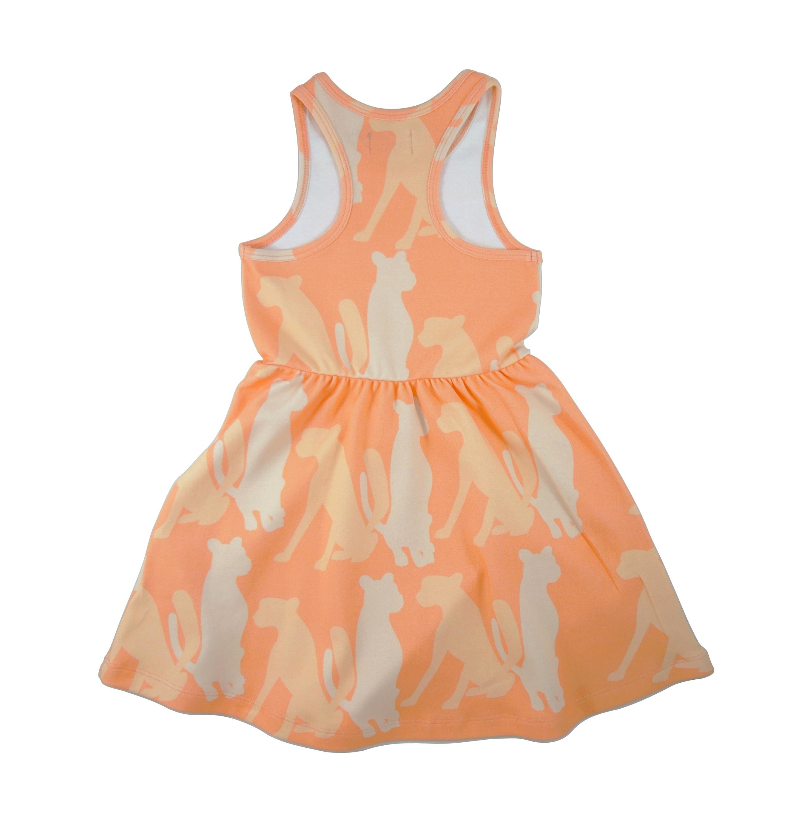 19SSDC Dress Cheetha Silouette back