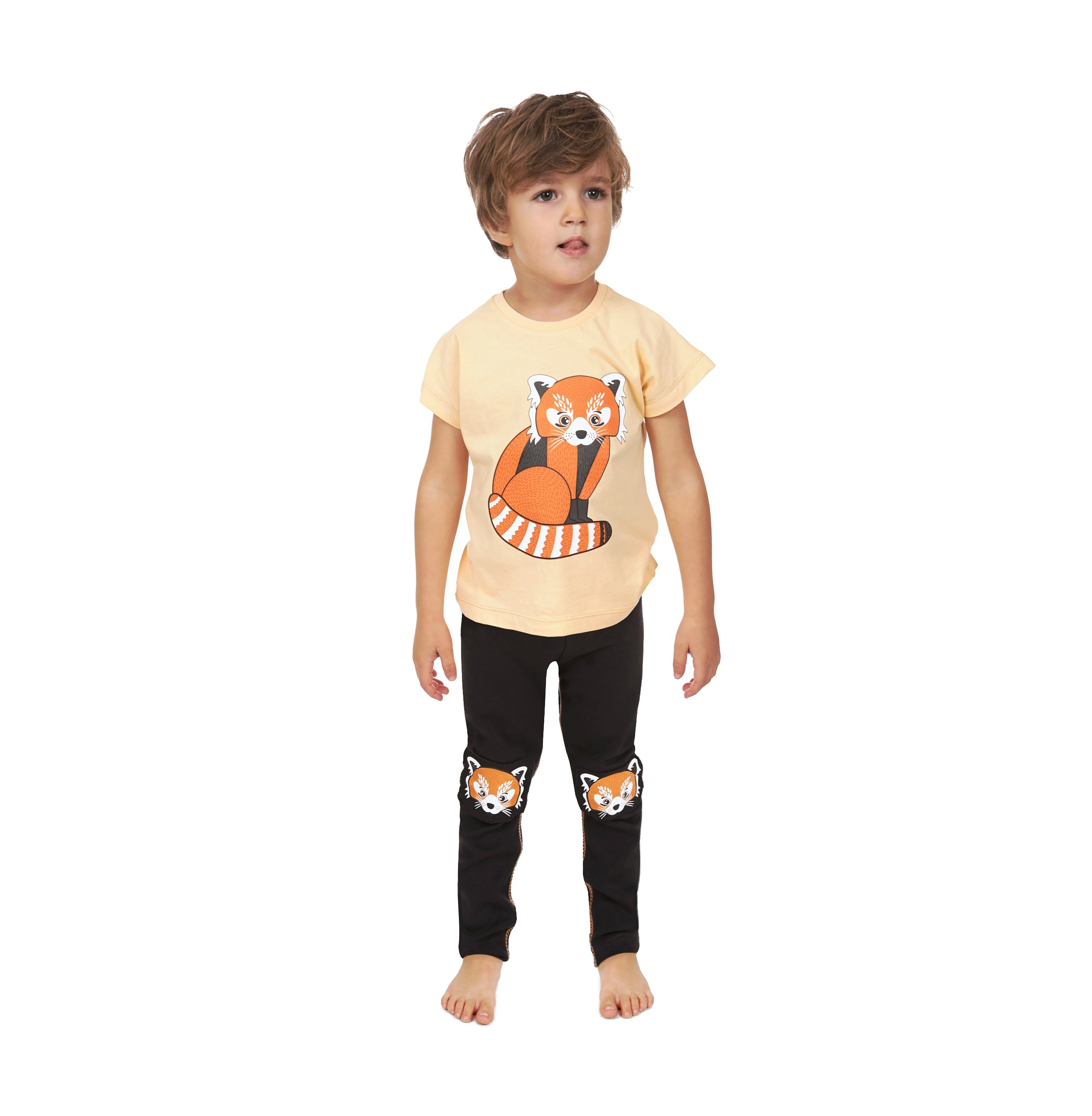 T-shirt Red Panda + Leggings Red Panda Knees 2