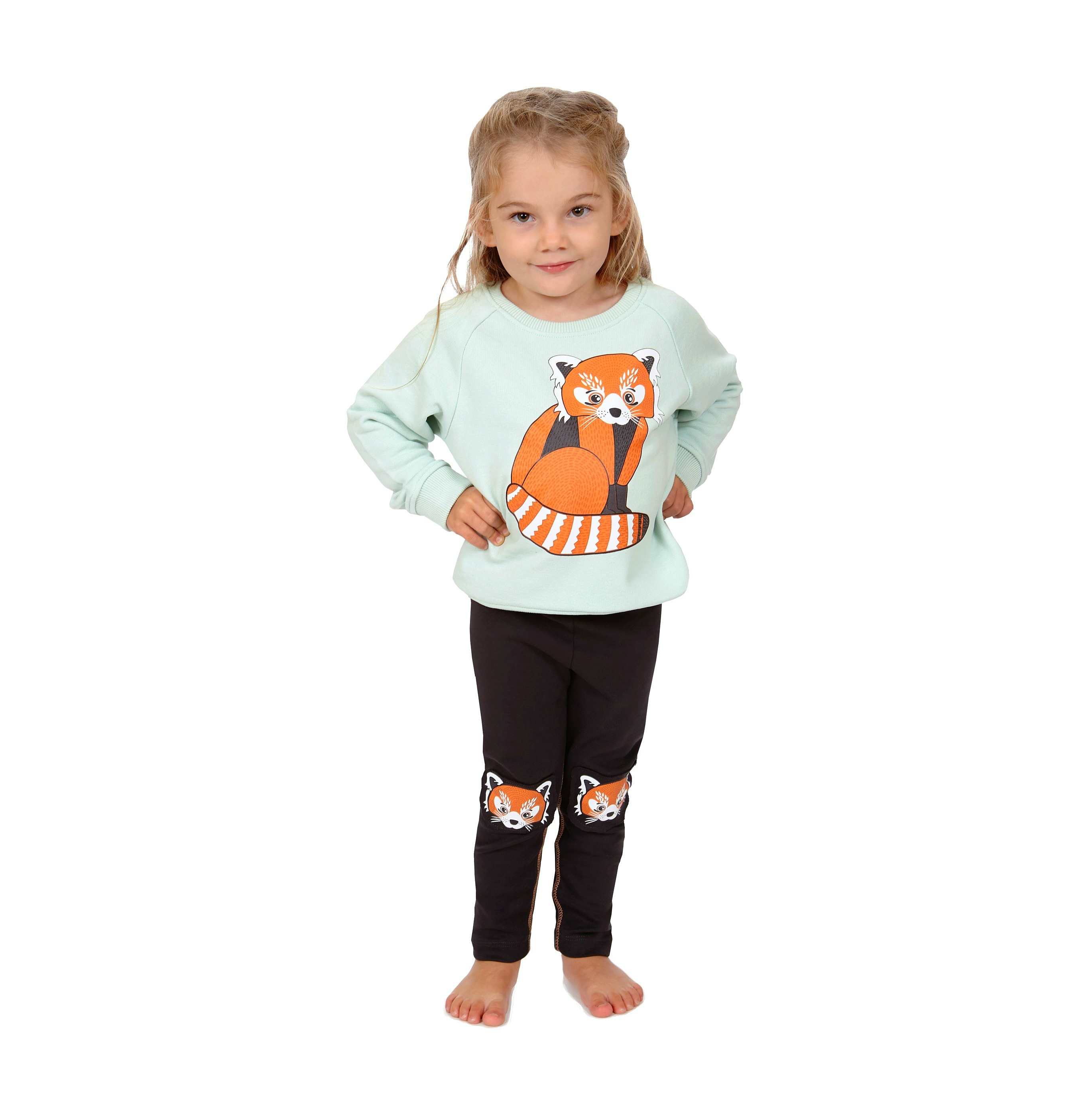 Sweatshirt Red Panda + Leggings Red Panda Knees