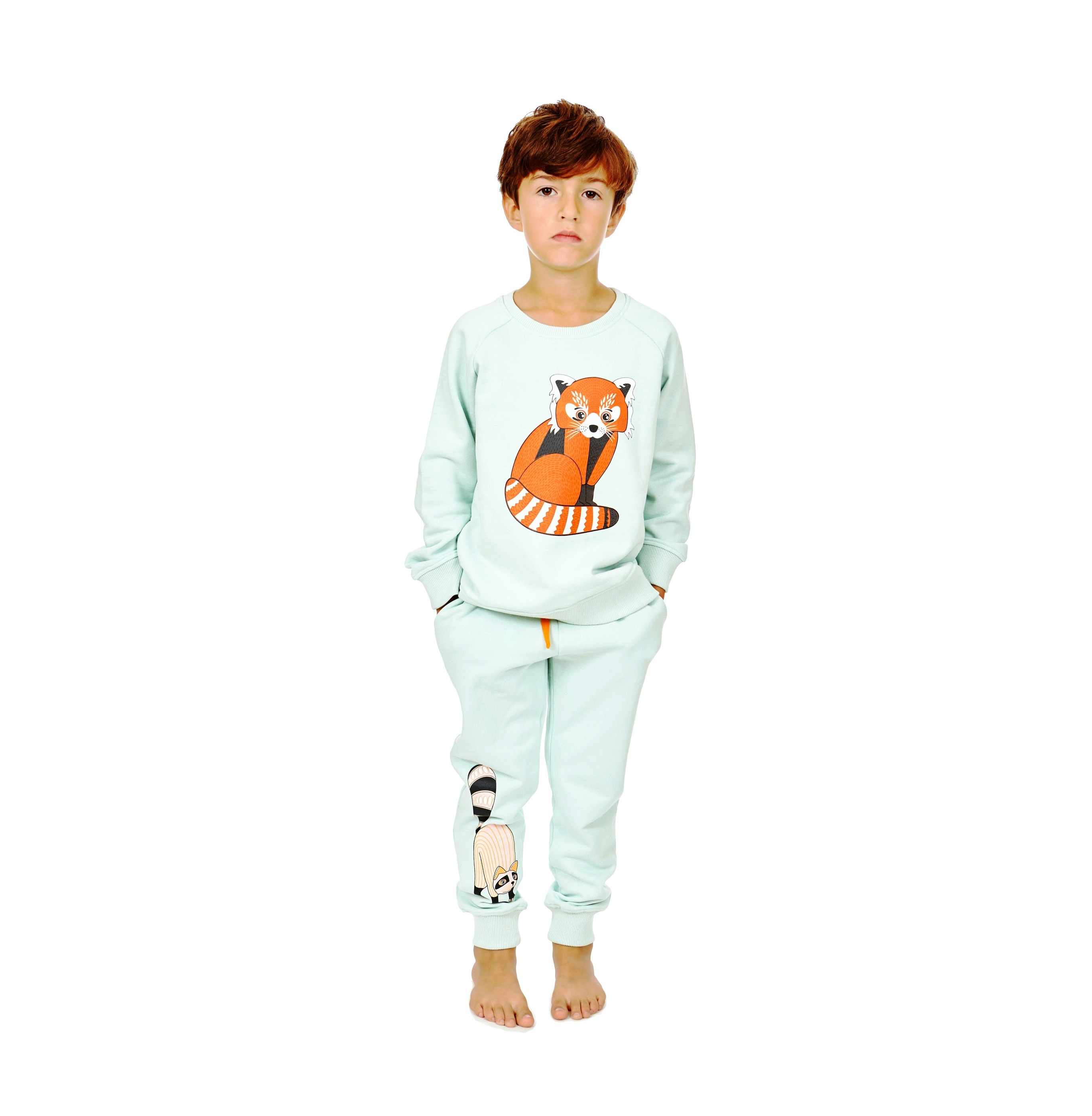 Sweatshirt Red Panda + Sweatpants Oaxacan print 2