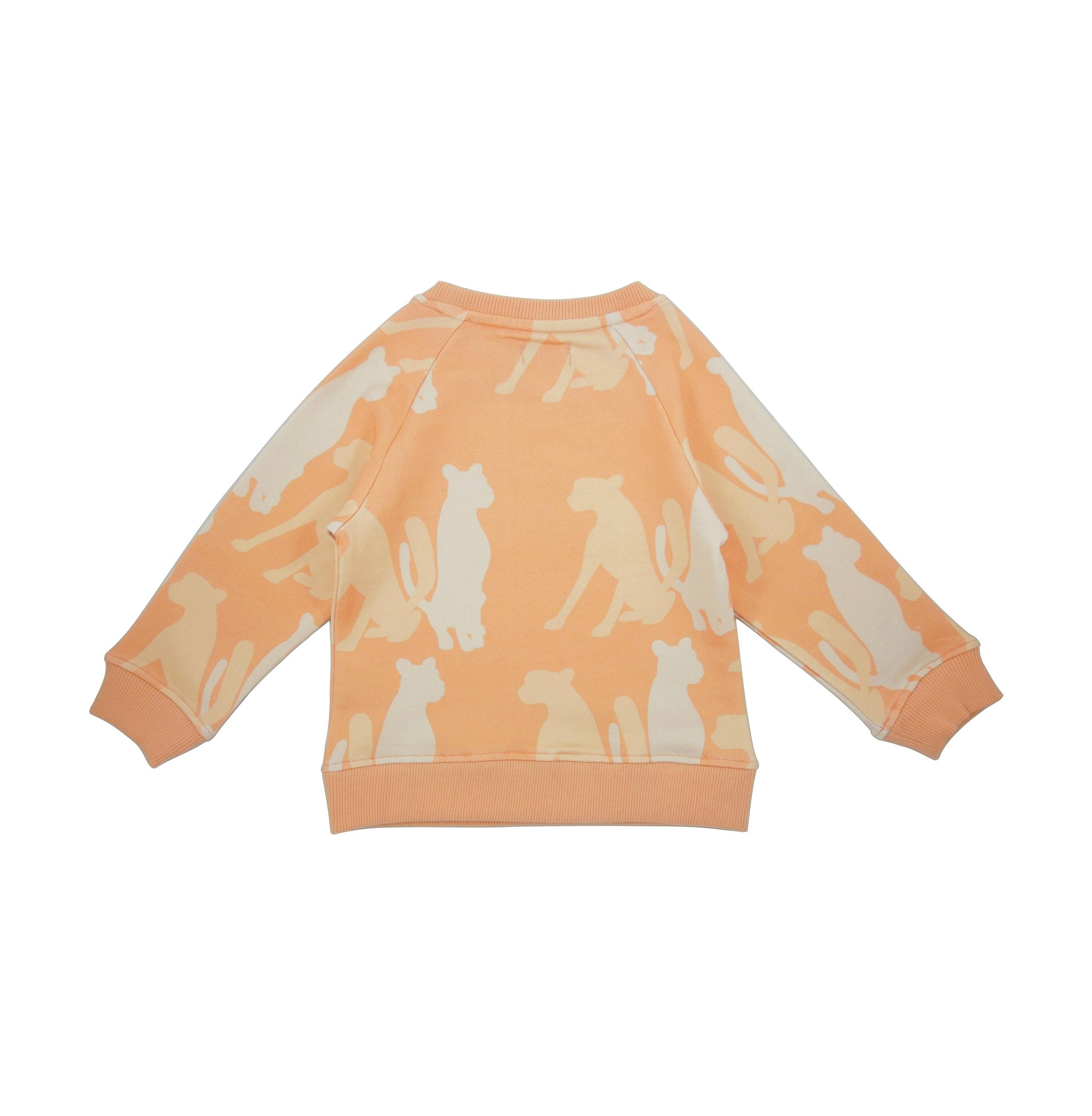 19SSSS Sweatshirt Cheetah Silouette back