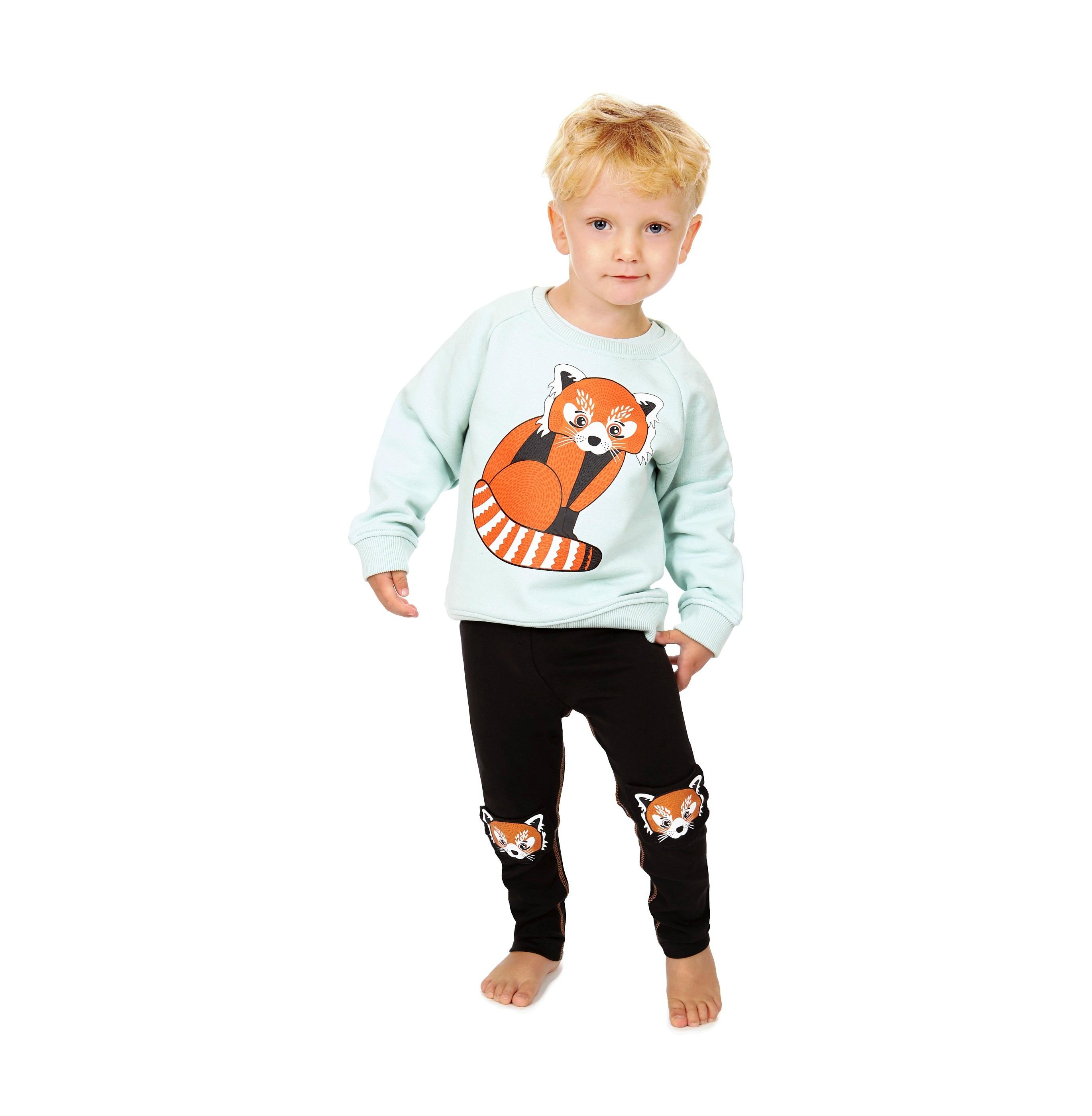 Sweatshirt Red Panda + Leggings Red Panda Knees 2