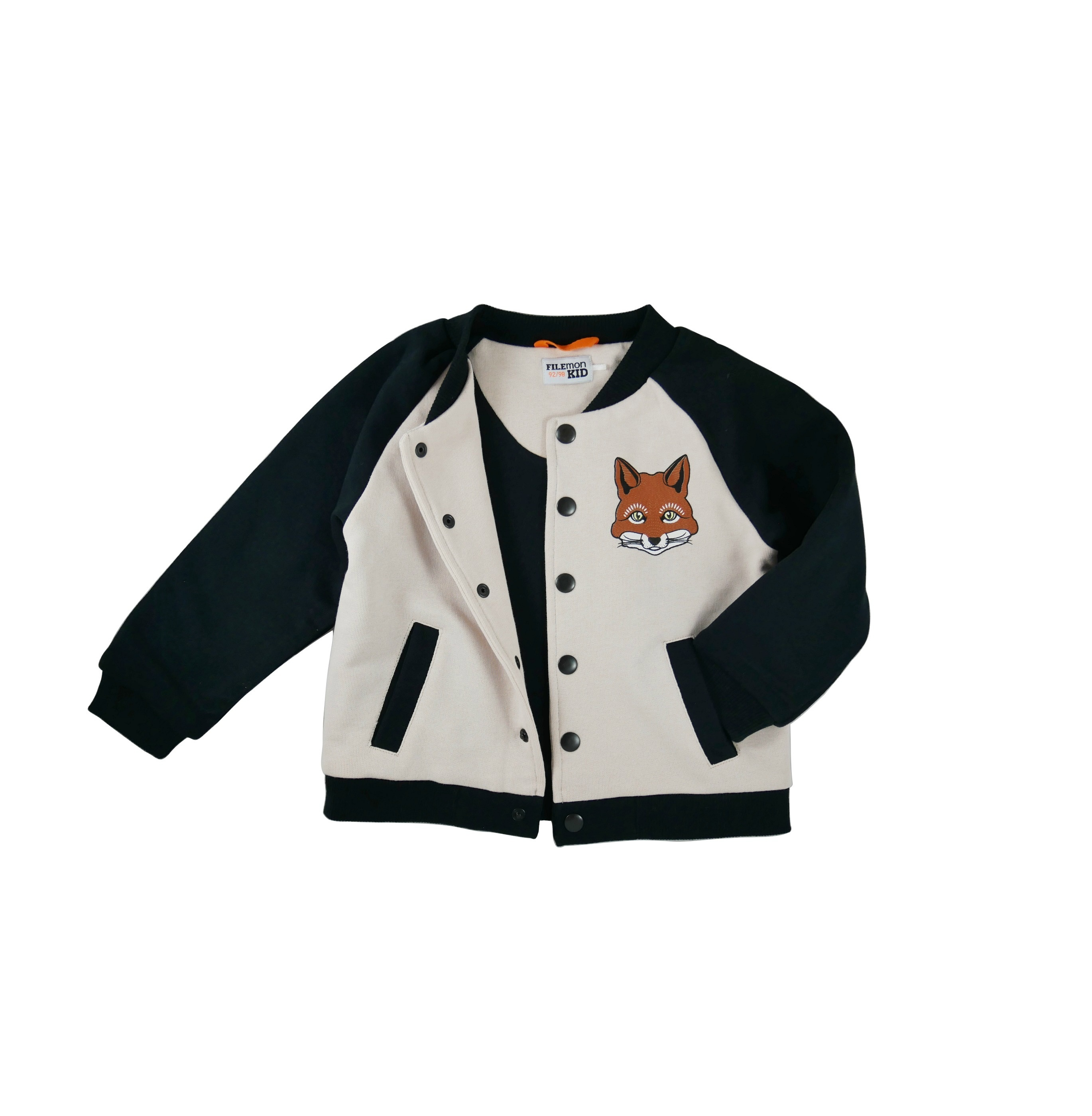 Baseball Jacket Fox un buttoned