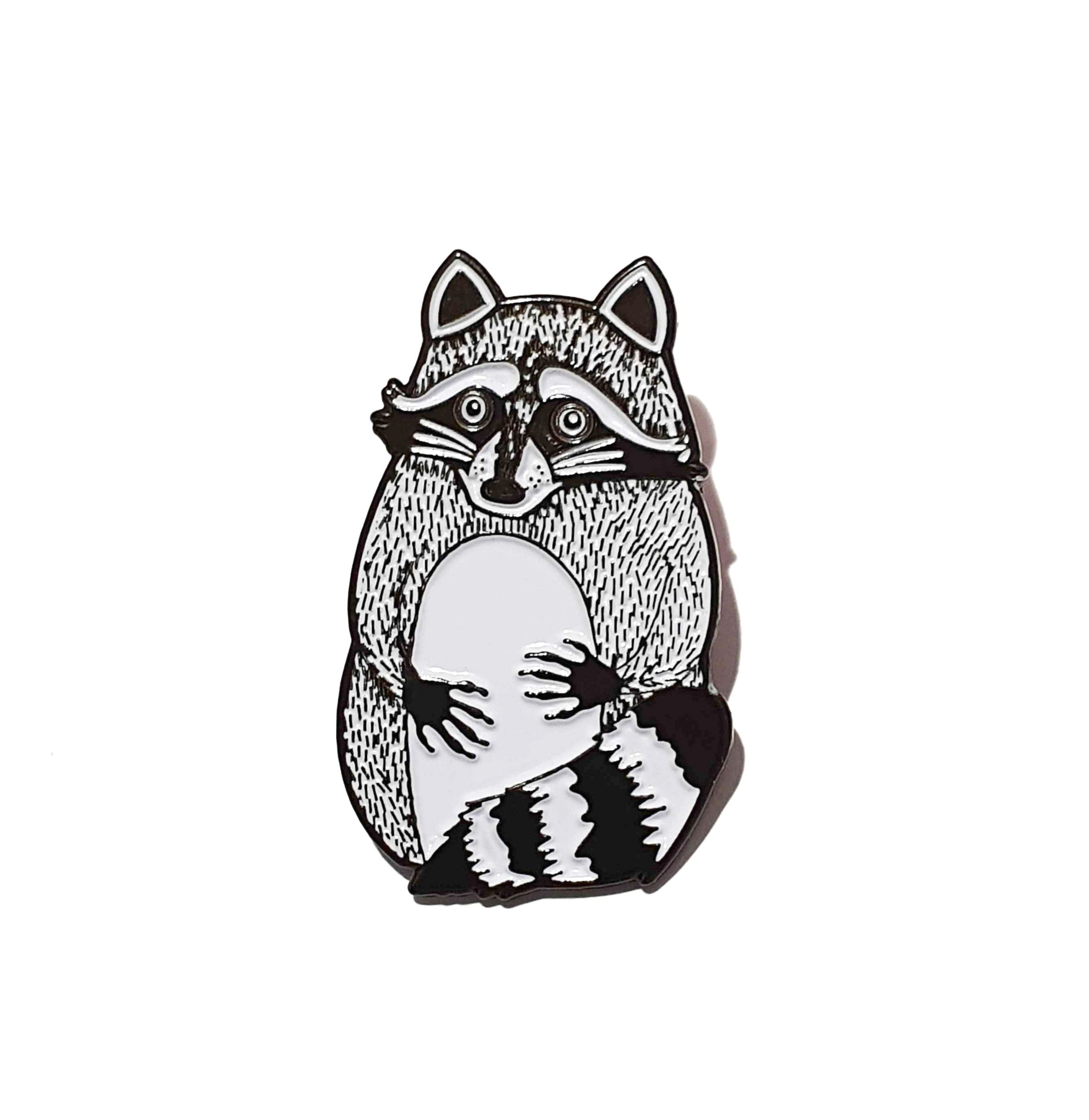 Raccoon enamel pin